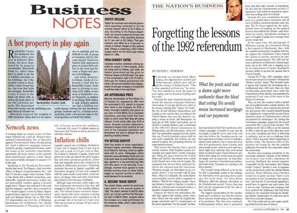 Article Preview: Forgetting the lessons of the 1992 referendum, September 1995 | Maclean's