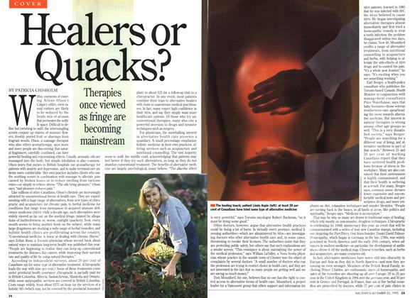 Article Preview: Healers or Quacks?, September 1995 | Maclean's