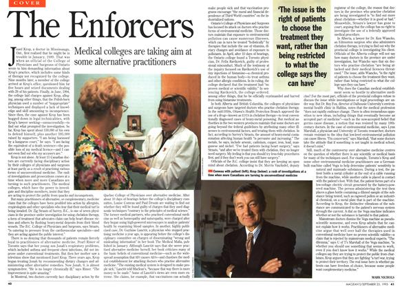 Article Preview: The Enforcers, September 1995 | Maclean's