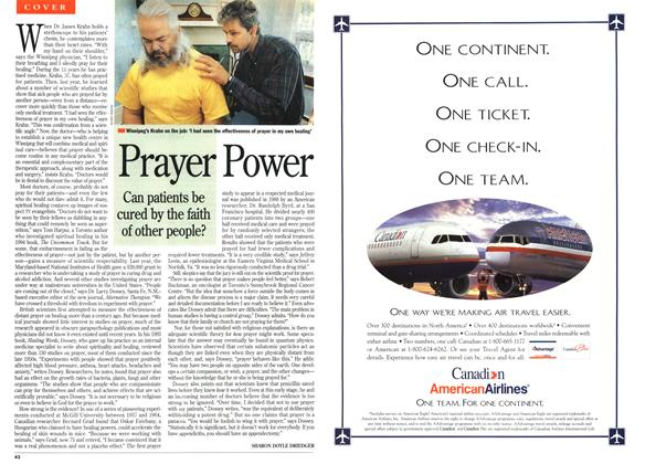 Article Preview: Prayer Power, September 1995 | Maclean's