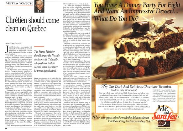 Article Preview: Chrétien should come clean on Quebec, September 1995 | Maclean's
