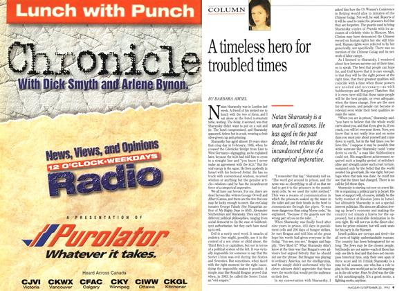 Article Preview: A timeless hero for troubled times, September 1995 | Maclean's