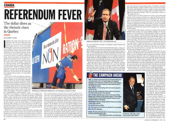 Article Preview: REFERENDUM FEVER, September 1995 | Maclean's