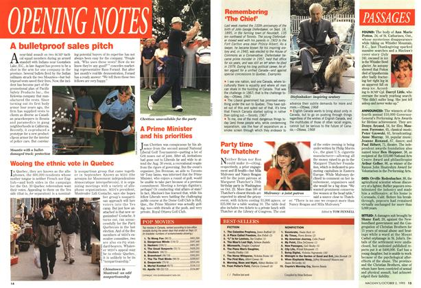 Article Preview: OPENING NOTES, October 1995 | Maclean's