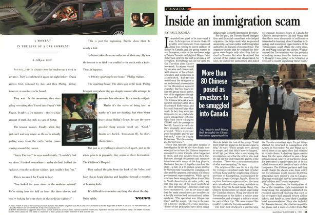 Article Preview: Inside an immigration scam, October 1995 | Maclean's