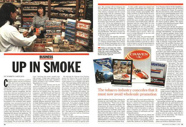 Article Preview: UP IN SMOKE, October 1995 | Maclean's