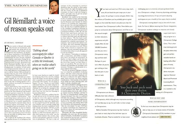 Article Preview: Gil Rémillard: a voice of reason speaks out, October 1995 | Maclean's
