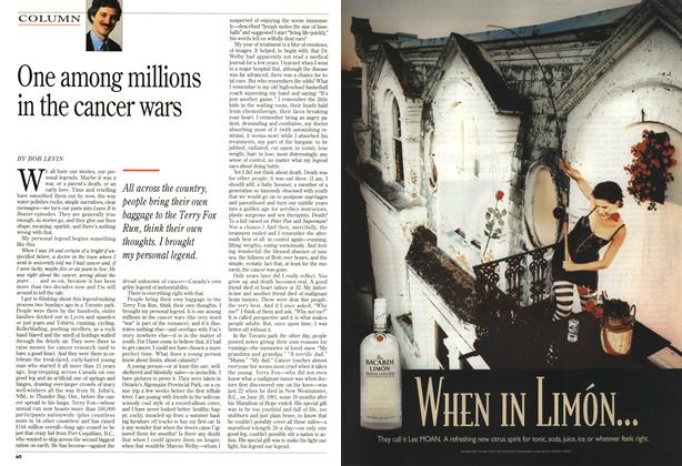Article Preview: One among millions in the cancer wars, October 1995 | Maclean's