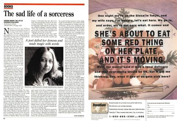 Article Preview: The sad life of a sorceress, October 1995 | Maclean's
