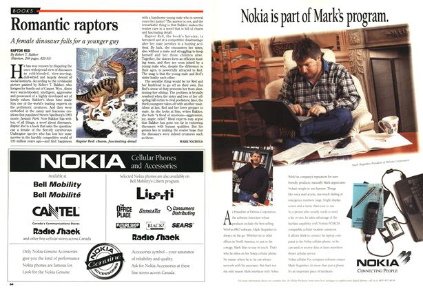 Article Preview: Romantic raptors, October 1995 | Maclean's