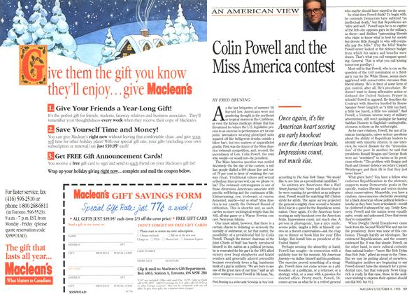 Article Preview: Colin Powell and the Miss America contest, October 1995 | Maclean's
