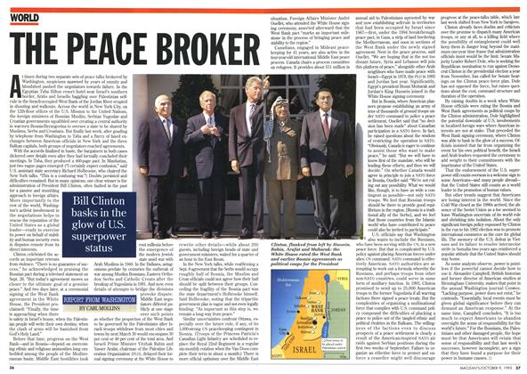 Article Preview: THE PEACE BROKER, October 1995 | Maclean's