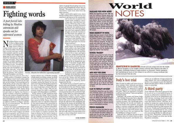 Article Preview: Fighting words, October 1995 | Maclean's