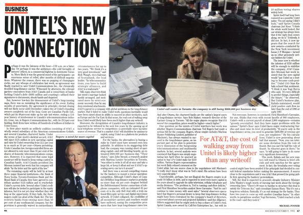 Article Preview: UNITEL'S NEW CONNECTION, October 1995 | Maclean's