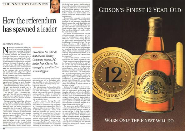 Article Preview: How the referendum has spawned a leader, October 1995 | Maclean's