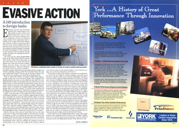 Article Preview: EVASIVE ACTION, October 1995 | Maclean's