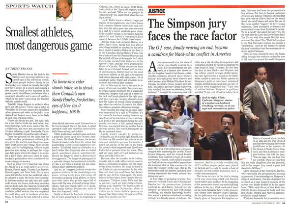 Article Preview: The Simpson jury faces the race factor, October 1995 | Maclean's
