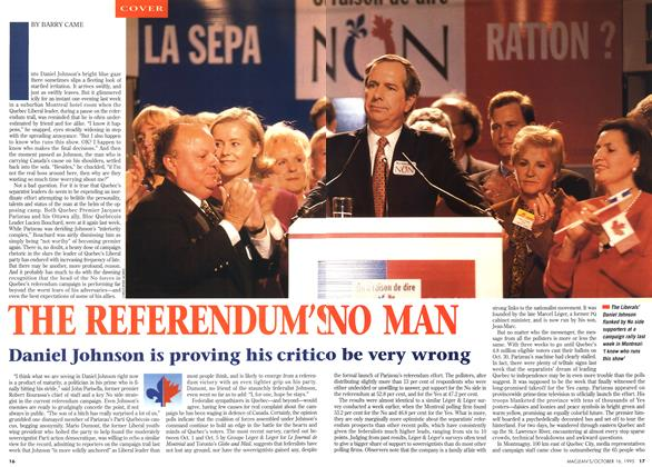 Article Preview: THE REFERENDUM'S NO MAN, October 1995 | Maclean's