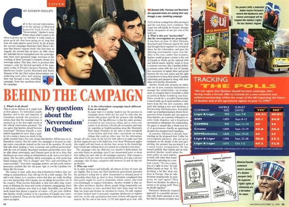 Article Preview: BEHIND THE CAMPAIGN, October 1995 | Maclean's