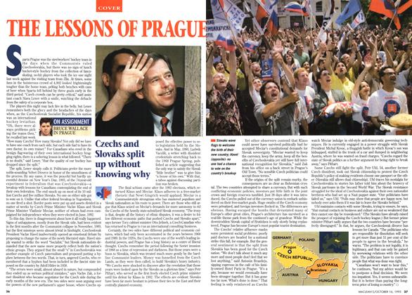 Article Preview: THE LESSONS OF PRAGUE, October 1995 | Maclean's