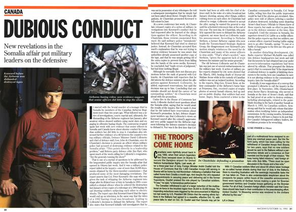 Article Preview: DUBIOUS CONDUCT, October 1995 | Maclean's