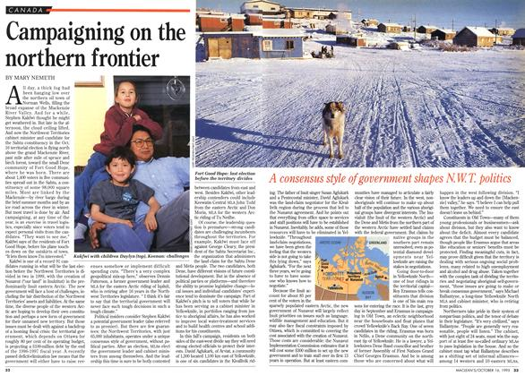 Article Preview: Campaigning on the northern frontier, October 1995 | Maclean's