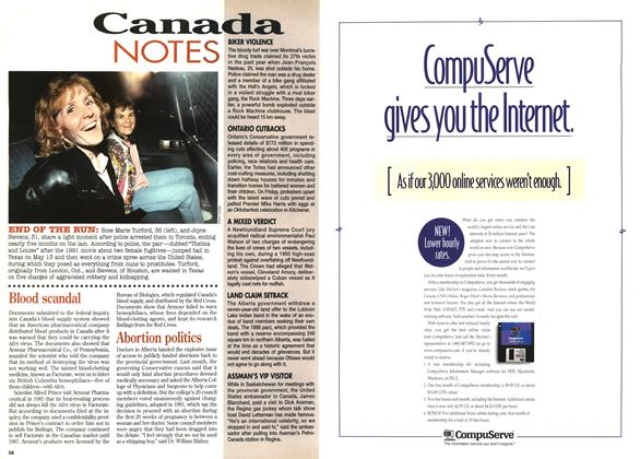 Article Preview: Canada NOTES, October 1995 | Maclean's