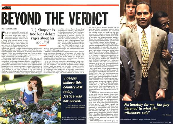 Article Preview: BEYOND THE VERDICT, October 1995 | Maclean's
