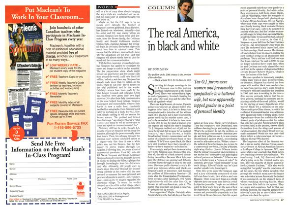 Article Preview: The real America, in black and white, October 1995 | Maclean's