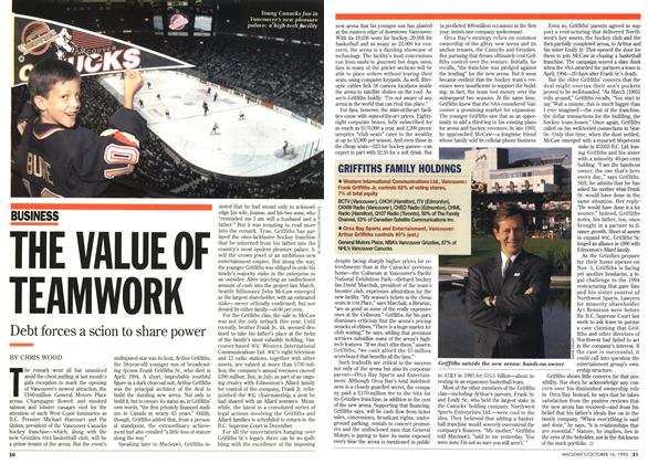 Article Preview: THE VALUE OF TEAMWORK, October 1995 | Maclean's