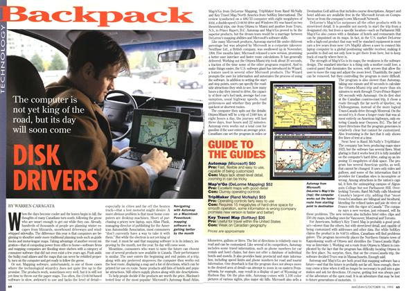 Article Preview: DISK DRIVERS, October 1995 | Maclean's