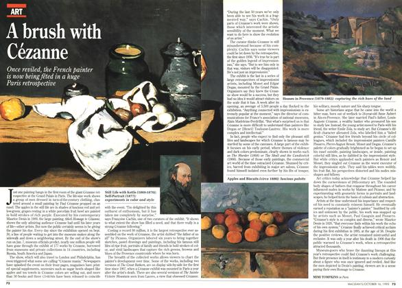 Article Preview: A brush with Cézanne, October 1995 | Maclean's