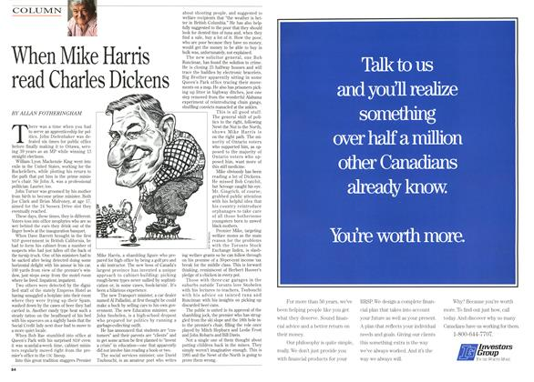 Article Preview: When Mike Harris read Charles Dickens, October 1995 | Maclean's
