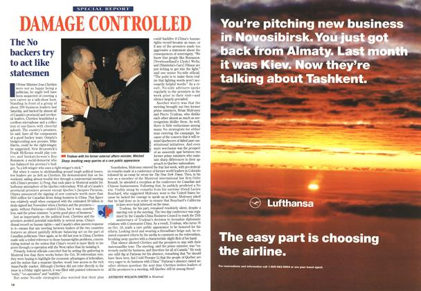 Article Preview: DAMAGE CONTROLLED, October 1995 | Maclean's