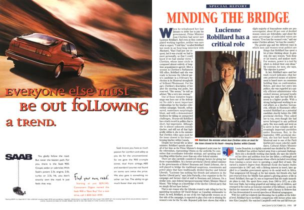 Article Preview: MINDING THE BRIDGE, October 1995 | Maclean's
