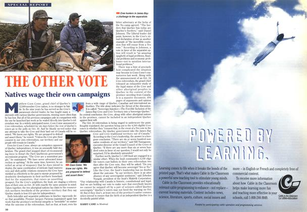 Article Preview: THE OTHER VOTE, October 1995 | Maclean's