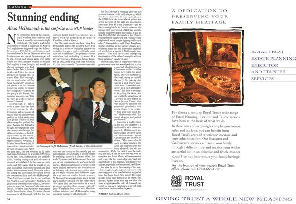 Article Preview: Stunning ending, October 1995 | Maclean's