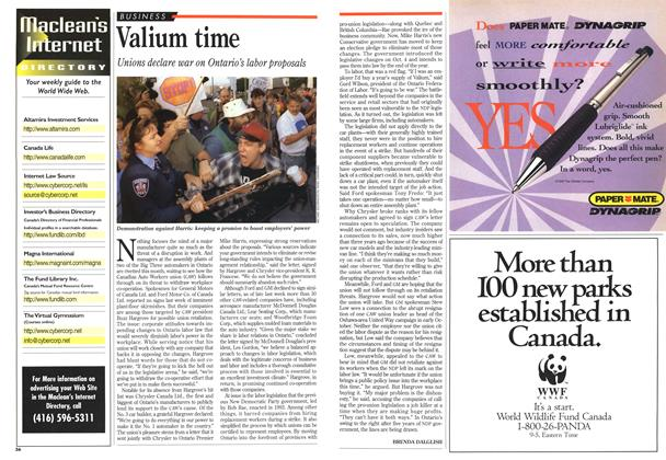 Article Preview: Valium time, October 1995 | Maclean's