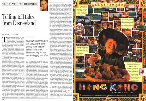 Article Preview: Telling tall tales from Disneyland, October 1995 | Maclean's