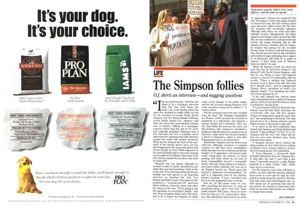 Article Preview: The Simpson follies, October 1995 | Maclean's