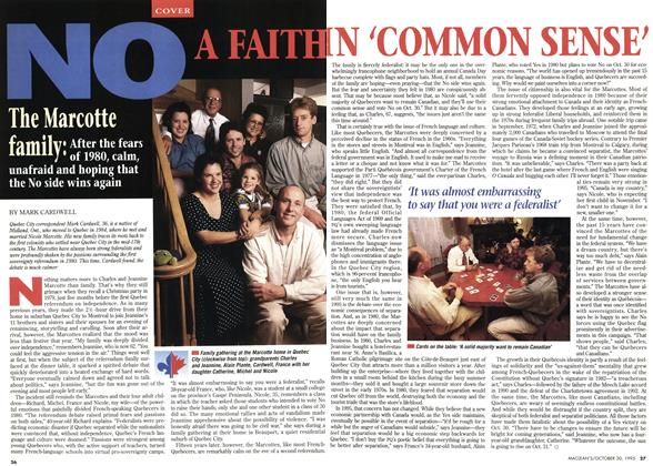 Article Preview: NO: A FAITH IN 'COMMON SENSE', October 1995 | Maclean's