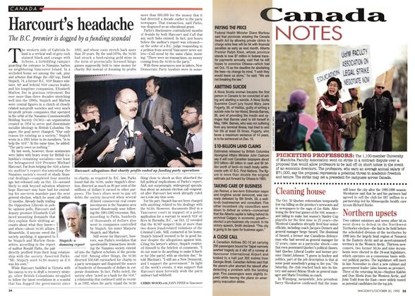 Article Preview: Harcourt's headache, October 1995 | Maclean's