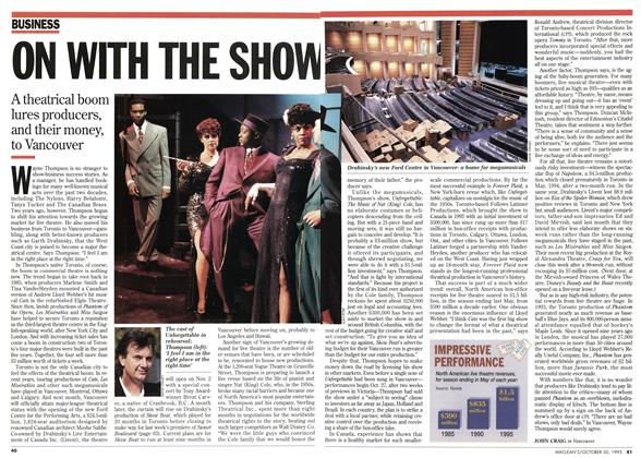 Article Preview: ON WITH THE SHOW, October 1995 | Maclean's