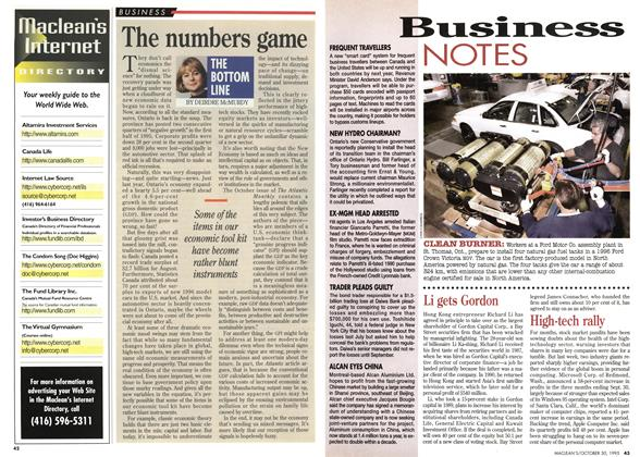 Article Preview: The numbers game, October 1995 | Maclean's