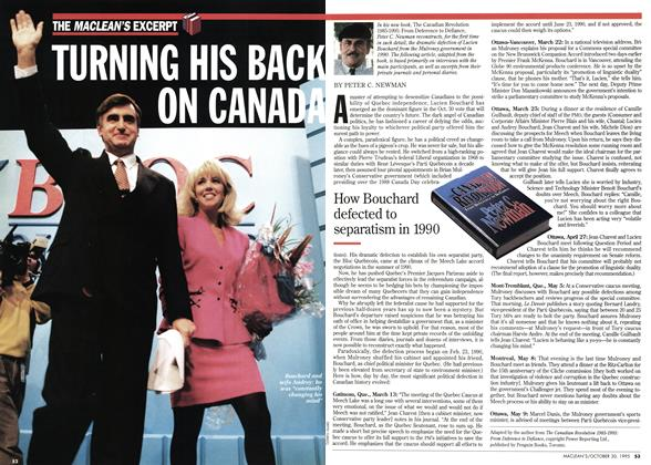Article Preview: TURNING HIS BACK ON CANADA, October 1995 | Maclean's