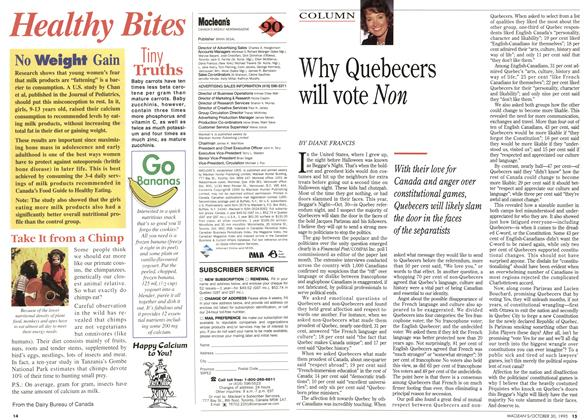 Article Preview: Why Quebecers will vote Non, October 1995 | Maclean's
