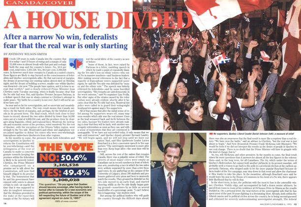 Article Preview: A HOUSE DIVIDED, November 1995 | Maclean's
