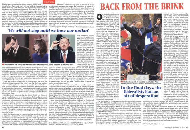 Article Preview: BACK FROM THE BRINK, November 1995 | Maclean's