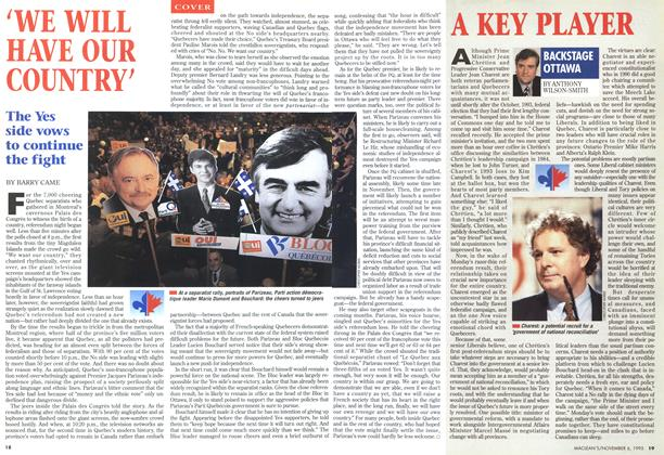 Article Preview: 'WE WILL HAVE OUR COUNTRY', November 1995 | Maclean's