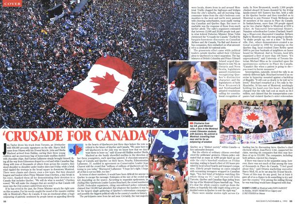 Article Preview: 'CRUSADE FOR CANADA', November 1995 | Maclean's